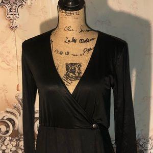 bebe Dresses - Kardashians Bebe Mini Fold Over Dress